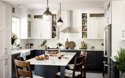 Hot Home Trend: Color Block Your Kitchen Cabinets